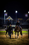 LOUISVILLE, KY - MAY 03: Always Dreaming (L), owned by Brooklyn Boyz Stables and trained by Todd Pletcher, exercises in preparation for the Kentucky Derby, walks off the track after galloping at Churchill Downs on May 03, 2017 in Louisville, Kentucky. (Photo by Alex Evers/Eclipse Sportswire/Getty Images)