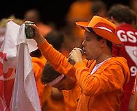 13-sept.-2013,Netherlands, Groningen,  Martini Plaza, Tennis, DavisCup Netherlands-Austria, Second rubber, Thiemo de Bakker (NED)  <br /> Photo: Henk Koster