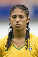 Brazil forward (11) Cristiane.  Brazil (BRA) defeated New Zealand (NZL) 5-0 in their  FIFA Women's World Cup China 2007 Group D opening round match at Wuhan Sports Center Stadium in Wuhan, China on September 12, 2007.