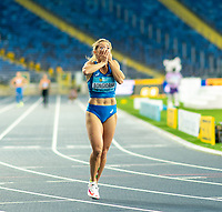 2nd May 2021; Silesian Stadium, Chorzow, Poland; World Athletics Relays 2021. Day 2; Italian athlete Anna Biongiorni elation as she finds out her team won the women's 4 x 100 final
