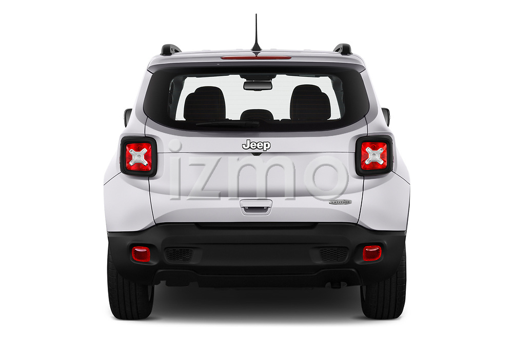Straight rear view of 2019 JEEP Renegade Latitude 5 Door SUV Rear View  stock images
