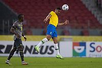 4th June 2021; Beira-Rio Stadium, Porto Alegre, Brazil; Qatar 2022 qualifiers; Brazil versus Ecuador; Casemiro of Brazil climbs to win the header from Enner Valencia of Ecuador