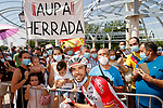 Jesus Herrada (ESP) Cofidis with family and fans at sign on before Stage 5 of La Vuelta d'Espana 2021, running 184.4km from Tarancón to Albacete, Spain. 18th August 2021.    <br /> Picture: Luis Angel Gomez/Photogomezsport   Cyclefile<br /> <br /> All photos usage must carry mandatory copyright credit (© Cyclefile   Luis Angel Gomez/Photogomezsport)