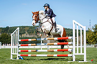 NZL-Victoria Boot rides Galaxy Peaches N Cream. Class 26: Pony 1.05m Ranking Class. 2021 NZL-Easter Jumping Festival presented by McIntosh Global Equestrian and Equestrian Entries. NEC Taupo. Saturday 3 April. Copyright Photo: Libby Law Photography