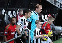 Saturday 17 November 2012<br /> Pictured: Gerhard Tremmel of Swansea, Ashley Williams<br /> Re: Barclay's Premier League, Newcastle United v Swansea City FC at St James' Park, Newcastle Upon Tyne, UK.