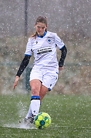 Raquel Viaene (5) of Club Brugge  with the ball during a friendly female soccer game between SC Eendracht Aalst and Club Brugge YLA on Saturday 16 January 2021 at Zandberg Youth Complex in Aalst , Belgium . PHOTO SPORTPIX.BE   SPP   SEVIL OKTEM