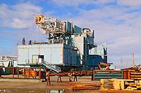 A Phillips Alaska drilling rig at the end of the Dalton Highway, Deadhorse, Alaska
