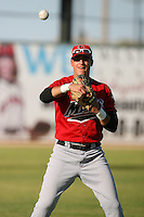 April 19 2009: Alex Liddi of the High Desert Mavericks before game against the Lancaster JetHawks at Clear Channel Stadium in Lancaster,CA.  Photo by Larry Goren/Four Seam Images
