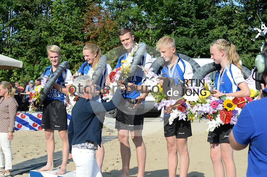 FIERLJEPPEN: WINSUM: 04-09-2021, FK Fierljeppen, ©foto Martin de Jong