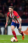 Saul Niguez Esclapez of Atletico de Madrid in action during the UEFA Europa League 2017-18 Round of 32 (2nd leg) match between Atletico de Madrid and FC Copenhague at Wanda Metropolitano  on February 22 2018 in Madrid, Spain. Photo by Diego Souto / Power Sport Images