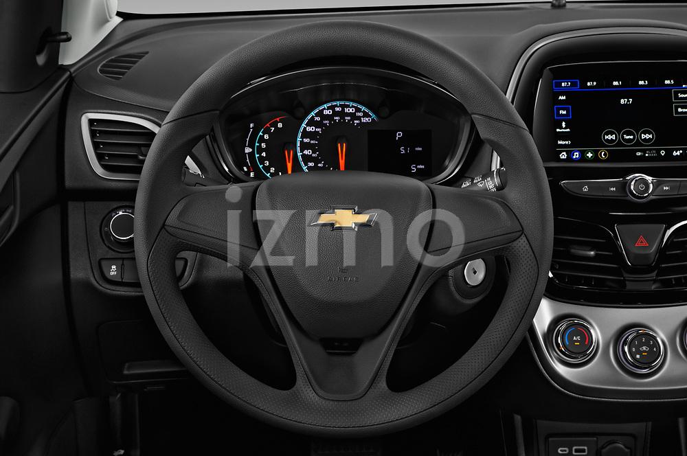 Car pictures of steering wheel view of a 2020 Chevrolet Spark LS Select Doors Door Hatchback
