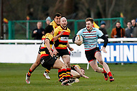 Leo Fielding of Blackheath Rugby in action during the English National League match between Richmond and Blackheath  at Richmond Athletic Ground, Richmond, United Kingdom on 4 January 2020. Photo by Carlton Myrie.
