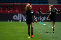 BRIDGEVIEW, IL - JUNE 5: Casey Krueger #6 of the Chicago Red Stars warms up before a game between North Carolina Courage and Chicago Red Stars at SeatGeek Stadium on June 5, 2021 in Bridgeview, Illinois.