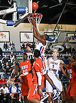 Texas-Arlington Mavericks forward Brandon Edwards (35) does a easy lay up in the game between the UTA Mavericks and the Houston Baptist Huskies held at the University of Texas in Arlington's Texas Hall in Arlington, Texas. UTA defeats Houston Baptist 72 to 57