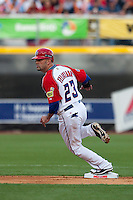 11 March 2009: #23 Jesus Feliciano of Puerto Rico runs the bases during the 2009 World Baseball Classic Pool D game 6 at Hiram Bithorn Stadium in San Juan, Puerto Rico. Puerto Rico wins 5-0 over the Netherlands
