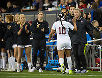 Stanford, CA - December 8, 2019: Maya Doms, Paul Ratcliffe at Avaya Stadium. The Stanford Cardinal won their 3rd National Championship, defeating the UNC Tar Heels 5-4 in PKs after the teams drew at 0-0.