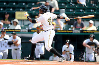 Bradenton Marauders outfielder Gregory Polanco #25 during a game against the Fort Myers Miracle at McKechnie Field on April 7, 2013 in Bradenton, Florida.  Fort Myers defeated Bradenton 9-8 in ten innings.  (Mike Janes/Four Seam Images)