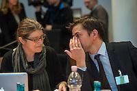 2. NSU-Untersuchungsausschuss dees Deutschen Bundestag.<br /> Aufgrund vieler Ungeklaertheiten und Fragen sowie vielen neuen Erkenntnissen ueber moegliche Verstrickungen verschiedener Geheimdienste in das Terror-Netzwerk Nationalsozialistischen Untergrund (NSU) wurde von den Abgeordneten des Bundestgas ein zweiter Untersuchungsausschuss eingesetzt.<br /> Am Donnerstag den 17. Dezember fand die 1. oeffentliche Sitzung des 2. NSU-Untersuchungsausschuss des Deutschen Bundestag statt.<br /> Im Bild vlnr.: Als Sachverstaendige die Politologin und Journalistin Andrea Roepke und der Journalist und Autor Dirk Laabs.<br /> 17.12.2015, Berlin<br /> Copyright: Christian-Ditsch.de<br /> [Inhaltsveraendernde Manipulation des Fotos nur nach ausdruecklicher Genehmigung des Fotografen. Vereinbarungen ueber Abtretung von Persoenlichkeitsrechten/Model Release der abgebildeten Person/Personen liegen nicht vor. NO MODEL RELEASE! Nur fuer Redaktionelle Zwecke. Don't publish without copyright Christian-Ditsch.de, Veroeffentlichung nur mit Fotografennennung, sowie gegen Honorar, MwSt. und Beleg. Konto: I N G - D i B a, IBAN DE58500105175400192269, BIC INGDDEFFXXX, Kontakt: post@christian-ditsch.de<br /> Bei der Bearbeitung der Dateiinformationen darf die Urheberkennzeichnung in den EXIF- und  IPTC-Daten nicht entfernt werden, diese sind in digitalen Medien nach §95c UrhG rechtlich geschuetzt. Der Urhebervermerk wird gemaess §13 UrhG verlangt.]