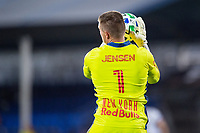 LAKE BUENA VISTA, FL - JULY 22: David Jensen #1 of the New York Red Bulls makes a save during a game between New York Red Bulls and FC Cincinnati at Wide World of Sports on July 22, 2020 in Lake Buena Vista, Florida.