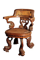 BNPS.co.uk (01202) 558833.<br /> Pic: Duke's/BNPS<br /> <br /> Pictured:  A rare William IV Carved Oak chair was part of the sale sold for £15,600<br /> <br /> The lavish contents of one of Britain's most beautiful stately homes have sold for almost £2million after capturing high society's imagination.<br /> <br /> Over 1,600 items were auctioned off from Wormington Grange, a neoclassical mansion in the Cotswolds, during the hotly contested three-day sale.<br /> <br /> The sale included what the auctioneers described as the 'most important' collection of country house furniture to emerge on the market for decades.