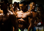Behind the scenes of the 2016 Hong Kong Bodybuilding Championships on 12 June 2016 at Queen Elizabeth Stadium, Hong Kong, China.  Photo by Victor Fraile / Power Sport Images