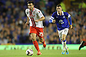 Michael Doughty of Stevenage (on loan from QPR) escapes from Ross Barkley of Everton<br />  - Everton v Stevenage - Capital One Cup Second Round - Goodison Park, Liverpool - 28th August, 2013<br />  © Kevin Coleman 2013