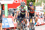 White Jersey Egan Bernal (COL) Ineos Grenadiers and Wout Poels (NED) Bahrain Victorious cross the finish line at the end of Stage 10 of La Vuelta d'Espana 2021, running 189km from Roquetas de Mar to Rincón de la Victoria, Spain. 24th August 2021.     <br /> Picture: Cxcling   Cyclefile<br /> <br /> All photos usage must carry mandatory copyright credit (© Cyclefile   Cxcling)