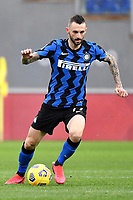 Marcelo Brozovic of FC Internazionale in action during the Serie A football match between AS Roma and FC Internazionale at Olimpico stadium in Roma (Italy), January 10th, 2021. Photo Andrea Staccioli / Insidefoto