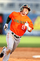 March 2, 2010:  Michael (Mike) Broad of the Miami Hurricanes during a game at Legends Field in Tampa, FL.  Photo By Mike Janes/Four Seam Images