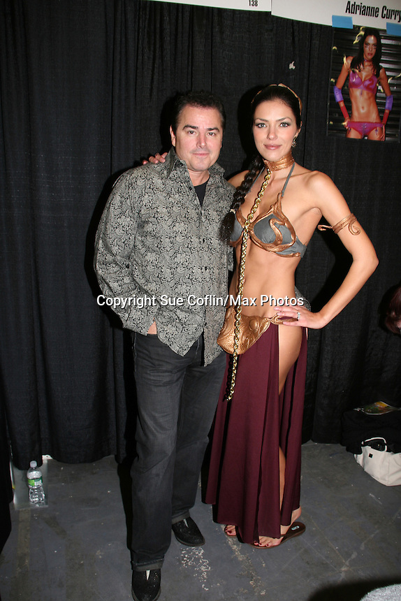 Christopher Knight & wife Adrianne Curry appear at Big Apple Comic Con for autographs and photos on October 16 (and 17 & 18), 2009 at Pier 94, New York City, New York. (Photo by Sue Coflin/Max Photos)