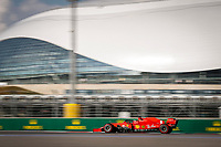 26th September 2020, Sochi, Russia; FIA Formula One Grand Prix of Russia, qualification;  5 Sebastian Vettel GER, Scuderia Ferrari Mission Winnow