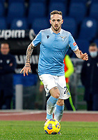Lazio's Manuel Lazzari in action during the Serie A soccer match between Lazio and Hellas Verona at Rome's Olympic Stadium, December 12, 2020.<br /> UPDATE IMAGES PRESS/Riccardo De Luca