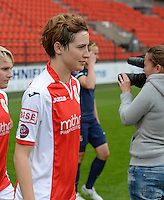 20150508 - LIEGE , BELGIUM : Standard's Imke Courtois pictured during the soccer match between the women teams of Standard de Liege Femina and PSV Eindhoven , on the 26th and last matchday of the BeNeleague competition Friday 8 th May 2015 in Stade Maurice Dufrasne in Liege . PHOTO DAVID CATRY