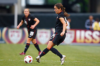 14 MAY 2011: USA Women's National Team defender Stephanie Cox (14) during the International Friendly soccer match between Japan WNT vs USA WNT at Crew Stadium in Columbus, Ohio.