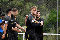 Samuel Mason-Smith of Team Wellington celebrates a goal during the ISPS Handa Men's Premiership - Team Wellington v Canterbury Utd at David Farrington Park, Wellington on Saturday 19 December 2020.<br /> Copyright photo: Masanori Udagawa /  www.photosport.nz