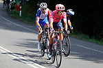 Magnus Cort Nielsen (DEN) EF Education-Nippo and Anthony Roux (FRA) Groupama-FDJ in the breakaway during Stage 19 of La Vuelta d'Espana 2021, running 191.2km from Tapia de Casariego to Monforte de Lemos, Spain. 3rd September 2021.    <br /> Picture: Luis Angel Gomez/Photogomezsport   Cyclefile<br /> <br /> All photos usage must carry mandatory copyright credit (© Cyclefile   Luis Angel Gomez/Photogomezsport)