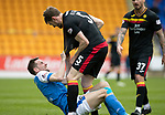 St Johnstone v Partick Thistle…28.04.18…  McDiarmid Park    SPFL<br />Niall McKeown and Steven MacLean<br />Picture by Graeme Hart. <br />Copyright Perthshire Picture Agency<br />Tel: 01738 623350  Mobile: 07990 594431