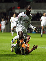 Pictured: Nathan Dyer of Swansea City in action<br /> Picture by D Legakis / Athena Picture Agency, Swansea, 07815441513