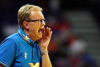 Denmark national handball team head coach Ulrik Wilbek during men`s EHF EURO 2012 championship semifinal handball game between Denmark and Spain in Belgrade, Serbia, Friday, January 27, 2011.  (photo: Pedja Milosavljevic / thepedja@gmail.com / +381641260959)