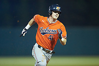 Steven Williams (41) of the Auburn Tigers hustles towards third base against the Army Black Knights at Doak Field at Dail Park on June 2, 2018 in Raleigh, North Carolina. The Tigers defeated the Black Knights 12-1. (Brian Westerholt/Four Seam Images)