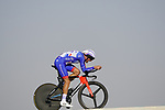 Anthony Roux (FRA) Groupama-FDJ during Stage 2 of the 2021 UAE Tour an individual time trial running 13km around  Al Hudayriyat Island, Abu Dhabi, UAE. 22nd February 2021.  <br /> Picture: Eoin Clarke | Cyclefile<br /> <br /> All photos usage must carry mandatory copyright credit (© Cyclefile | Eoin Clarke)