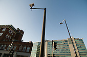 Surveillance camera on a high pole close the Paddington Central office and retail development and Paddington station, London