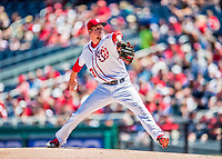 30 July 2017: Washington Nationals pitcher Erick Fedde on the mound in the first inning of his major league debut against the Colorado Rockies at Nationals Park in Washington, DC. The Rockies defeated the Nationals 10-6 in the second game of their 3-game weekend series. Mandatory Credit: Ed Wolfstein Photo *** RAW (NEF) Image File Available ***