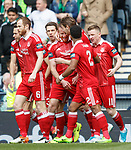Adam Rooney takes the acclaim for his quick goal