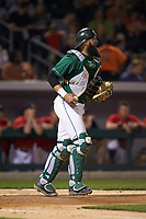 Charlotte 49ers catcher Derek Fritz (26) on defense against the Georgia Bulldogs at BB&T Ballpark on March 8, 2016 in Charlotte, North Carolina. The 49ers defeated the Bulldogs 15-4. (Brian Westerholt/Four Seam Images)