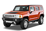 Front three quarter view of a 2008 Hummer H3 Alpha SUV.