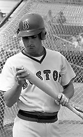 Boston Red Sox infielder Stan Papi during Spring Training circa 1979 at Chain of Lakes Park in Winter Haven, Florida.  (MJA/Four Seam Images)