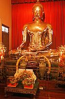 Thaïlande/Bangkok: Temple de Wat Traimit / Temple du Bouddha d'or - Le Bouddha d'or, école des Sulhotaï