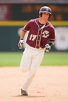 Mickey Wiswall #17 of the Boston College Eagles rounds the bases after hitting a home run in the 4th inning against the Virginia Tech Hokies at English Stadium May 2, 2010, in Blacksburg, Virginia.  Photo by Brian Westerholt / Four Seam Images