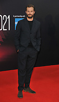 """Jamie Dornan at the 65th BFI London Film Festival """"Belfast"""" American Airlines gala, Royal Festival Hall, Belvedere Road, on Tuesday 12th October 2021, in London, England, UK. <br /> CAP/CAN<br /> ©CAN/Capital Pictures"""